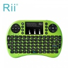 Rii RT-MWK08 + Mini USB 2.0 2,4 GHz Wireless-92-Key Touch Keyboard w / Air Mouse - Grün
