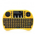 Rii RT-MWK08+ Mini USB 2.0 2.4GHz Wireless 92-Key Touch Keyboard w/ Air Mouse - Golden Yellow