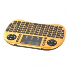 Rii RT-MWK08 + Mini USB 2.0 inalámbrico de 2,4 GHz 92-Key Touch Keyboard w / Air Mouse - Oro amarillo