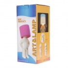 Snygg Creative gult ljus Naughty Boy Style Bordslampa - Gul + Cream (AC 220V)