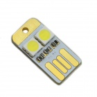 MaiTech Ultrathin 0.2W 22lm 6000K 2-5050 SMD LED White USB Light - White