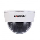ZONEWAY NC864M-P HD 1080P Indoor Plastic ONVIF IP Dome Camera w/ P2P / 22-IR LED for Home Security