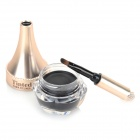 Quick-Dry Water-resistant Black Gel Eyeliner w/ Brush - Black + Golden + Transparent (7g)