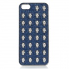 Protective Skull Style PC Back Case for IPHONE 5 - Dark Blue + Silver