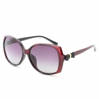 OREKA 2011 Women's UV400 Protection PC Frame Resin Lens Polarized Sunglasses - Claret Red + Grey