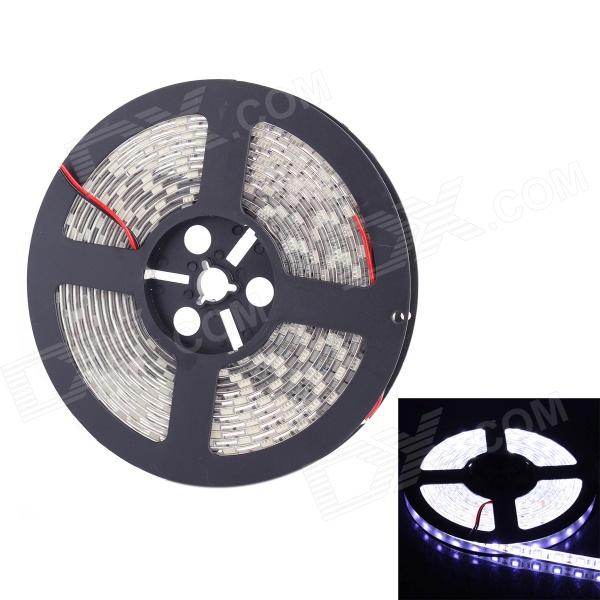 72W 2000LM IP65 Waterproof 300-SMD 5050 LED White Light Strip (5m / DC 12V) zdm waterproof 72w 200lm 470nm 300 smd 5050 led blue light strip white grey dc 12v 5m