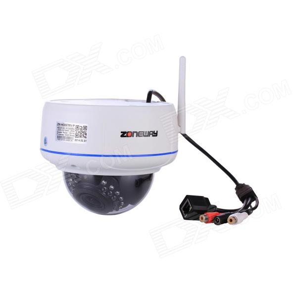 ZONEWAY NC857MW-P 1080P CMOS 2.0MP Vandal-proof Wi-Fi IP Dome Camera w/ ONVIF / PNP