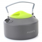ALOCS CW-K09 Outdoor Camping Water Bottle Kettle - Deep Grey + Green (0.9L)