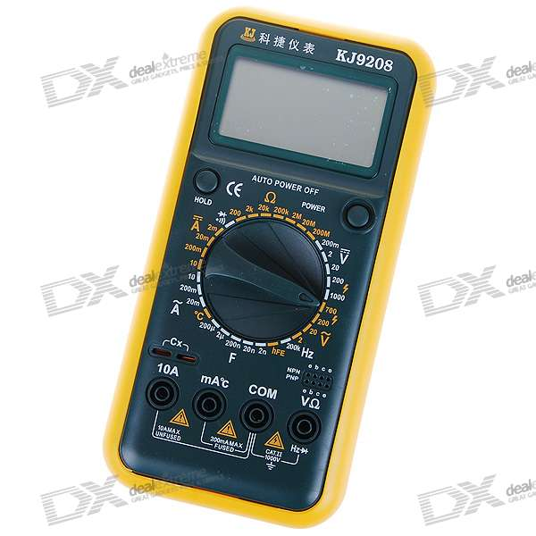 KeJie KJ-9208 Current/Voltage/Capacitance/Resistance/Temperature/Frequency Digital Multimeter