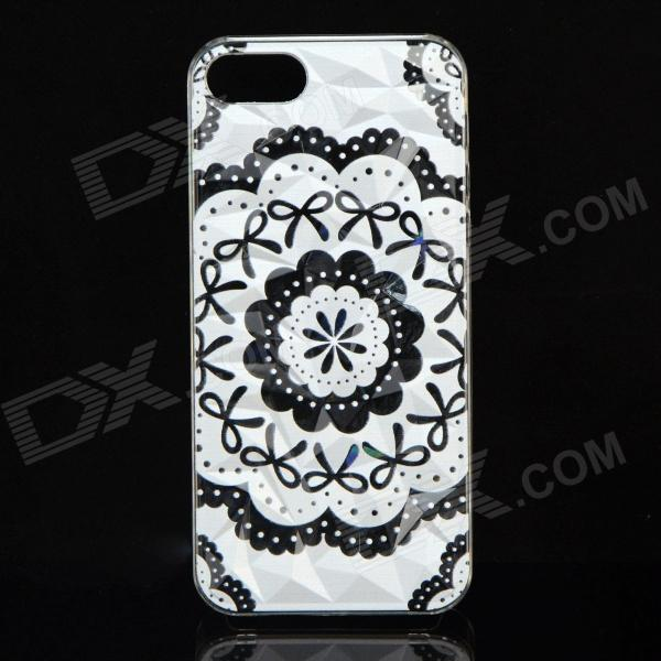 все цены на A100 Lace Bow Pattern Protective Plastic Back Case for IPHONE 5 / 5S - White + Black онлайн