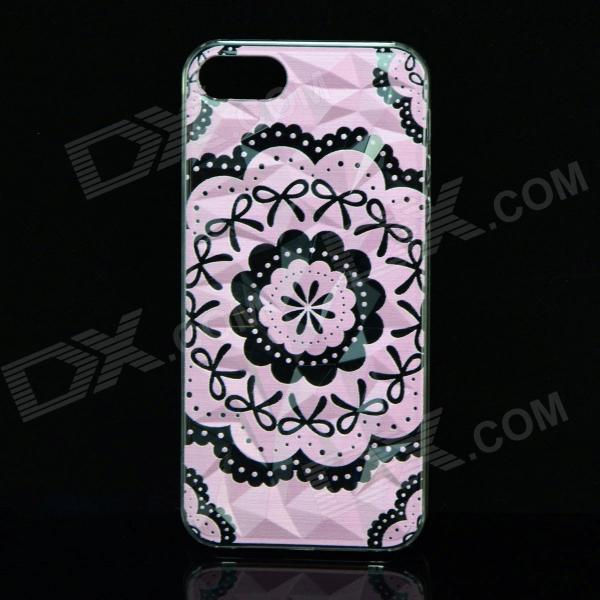 A100 Lace Bow Pattern Protective Plastic Back Case for IPHONE 5 / 5S - Pink + Black  palisad сучкорез palisad с наковальней рычажный механизм двухкомпонентные рукоятки 710 мм