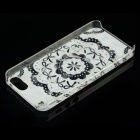 Lace Bow Pattern Protective Plastic Back Case for IPHONE 5 / 5S - Pink + Black
