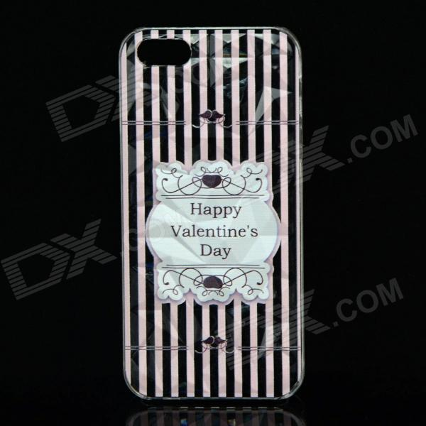 Фото A100 Happy Valentine's Day Pattern Protective Plastic Back Case for IPHONE 5 / 5S - Transparent a100 happy valentine s day pattern protective plastic back case for iphone 5 5s transparent