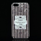 Happy Valentine's Day Pattern Protective Plastic Back Case for IPHONE 5 / 5S - Transparent
