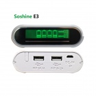 "Soshine e3 10400mAh Power Bank w / 7"" LCD-scherm, micro-USB-kabel - wit"