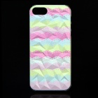 A100 Lace Pattern Protective Plastic Back Case for IPHONE 5 / 5S - Green + Pink