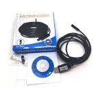 Goodlen USB-2M Waterproof USB 2.0 CMOS 7mm Lens 6-LED Snake HD Camera Endoscope - Black (2m)