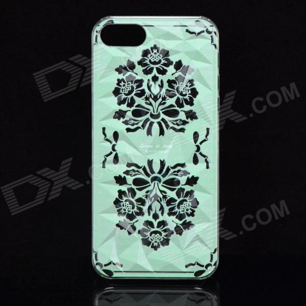 A100 Peony Pattern Protective Plastic Back Case for IPHONE 5 / 5S - Light Green + Black gappo crystal water faucet basin sink faucet deck mounted bathroom faucet mixer tap waterfall tap torneira grifo ga1097 4