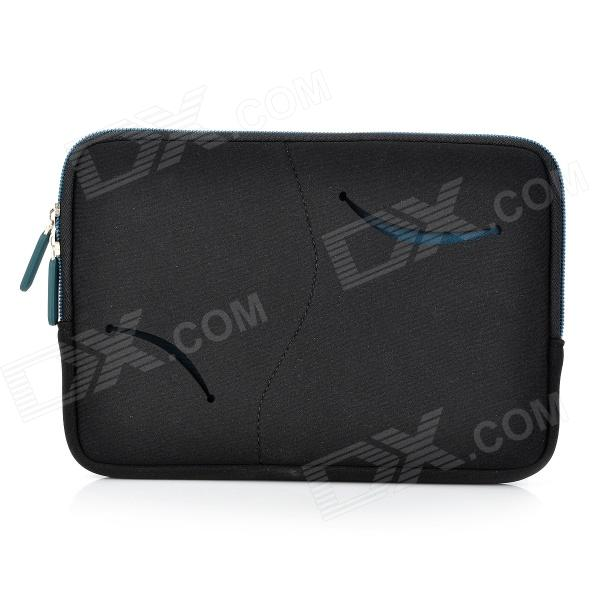 S-What Double Zipper Style Proetctive Neoprene Bag for IPAD MINI - Black + Deep Blue