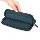 S-What Double Zipper Style Protective Neoprene Bag for IPAD MINI - Deep Blue