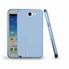 Angibabe Jelly TPU Soft Back Case for Samsung Galaxy Note 2 N7100 - Translucent Blue