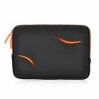 S-What Double Zipper Style Proetctive Neoprene Bag for IPAD MINI - Black + Orange