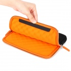 S-What Double Zipper Style Protective Neoprene Bag for IPAD MINI - Black + Orange