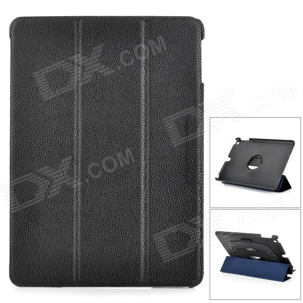 все цены на Protective Flip Open PU Leather + PC Case w/ Stand / Hand Strap for IPAD AIR - Black онлайн