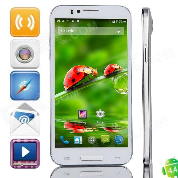 JIAKE JK-2 MTK6592 Octa-Core Android 4.4.2 WCDMA Bar Phone w/ 5.5 IPS HD, 8GB ROM, GPS, OTG - White ubtel q1 mtk6592 octa core android 4 2 wcdma bar phone w 5 0 ips gps otg hml 16gb rom white