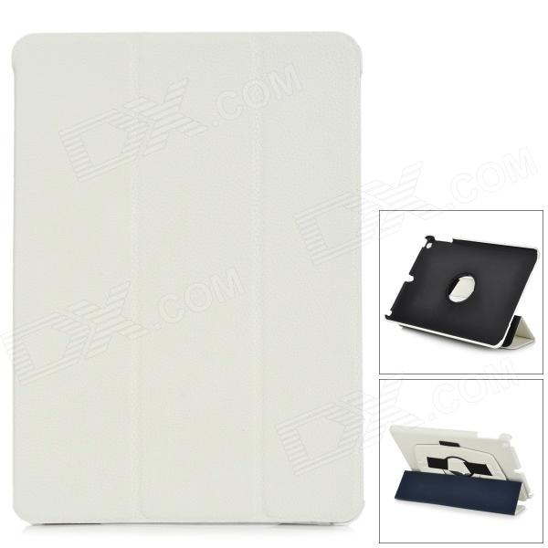 все цены на Protective Flip Open PU Leather + PC Case w/ Stand / Hand Strap for IPAD AIR - White онлайн