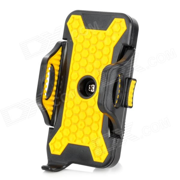ABS Bike Mobile Phone Mount Holder for IPHONE 5S / 5 / 4S / 4 - Black + Yellow