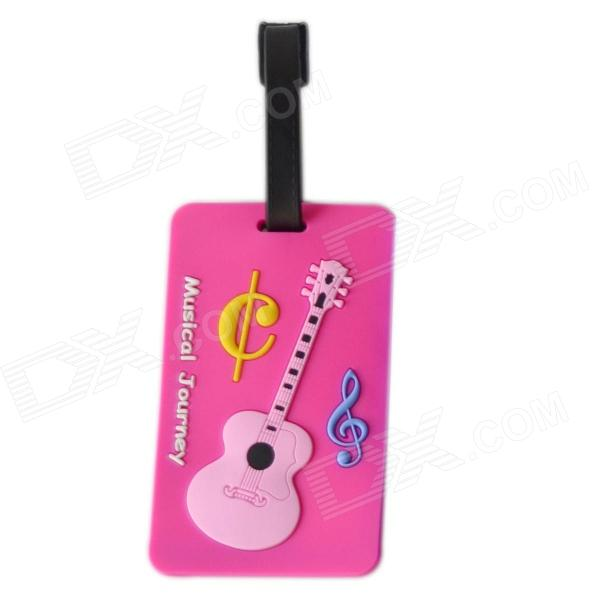 DEDO MG-150 Silicone Music Piano Keyboard Style Baggage Tag - Deep Pink + Multi-Colored
