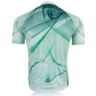 XINTOWN Outdoor Cycling Polyester Short-Sleeve Jersey - Green + White (XL)