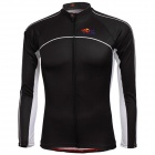 TOP CYCLING SAE121 Outdoor Cycling Polyester Long-sleeve Jersey for Men - Black (M)