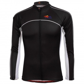 TOP CYCLING SAE121 Outdoor Cycling Polyester Long-sleeve Jersey for Men - Black (L)
