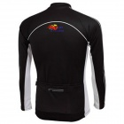 TOP CYCLING SAE121 Outdoor Cycling Polyester Long-sleeve Jersey for Men - Black (XXL)