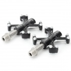 B-055 Outdoor Cycling Aluminum Alloy Bike Pedal Set - Black + Silver
