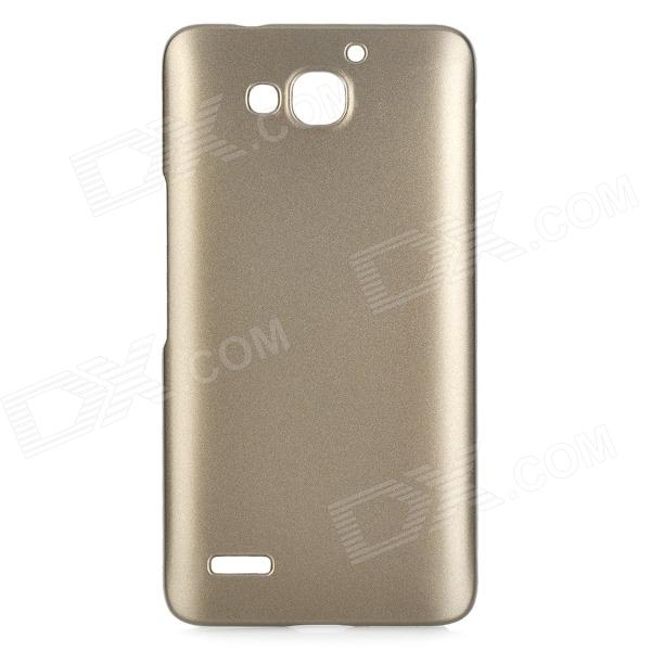 Stylish Protective Plastic Back Case for Huawei 3X - Golden Grey