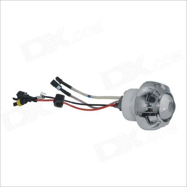 Carking 12B 35W 2600lm 6000K Blue Angel Eyes Motorcycle 2 Inch Lens Projection Lamp - Silver
