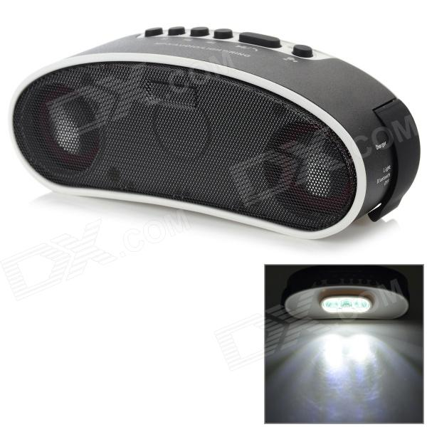 zxc-55 Waterproof Outdoor Bluetooth V3.0 Speaker w/ Mic / 3-LED / TF / Micro USB - White + Black