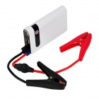 SN-PBA-006 8000mAh bil Power Bank med 1-3-läge lysdiod - vit + svart
