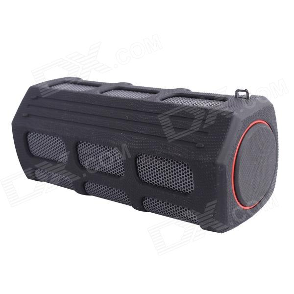 Portable Bluetooth V2.1 Speaker with Mic for Phone / Laptop / Tablet PC - Black + Red mymei best price new portable 3 5mm pillow speaker for mp3 mp4 cd ipod phone white