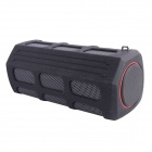 Portable Bluetooth V2.1 Speaker with Mic for Phone / Laptop / Tablet PC - Black + Red