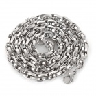 SHIYING TGL000028 316L Stainless Steel Multi Ring Chain Necklace for Men - Silver