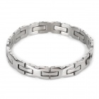 SHIYING SL00056 316L Stainless Steel Splicing Bracelet for Men - Silver