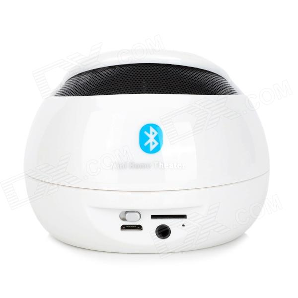 Bluetooth V3.0 Hands-free Speaker w/ Microphone / Micro USB / 3.5mm / TF - White + Black