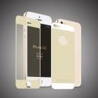 Angibabe 2-in-1 Front + Back Colorful Tempered Glass Screen Protector Film for IPHONE 5 / 5S - Beige