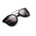Reedoon 1427 Fashion Big Framework UV400 Protection Ladies' Sunglasses - Black + Grey