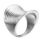 EQute Fashion Women's Finger Ring - Silver (Size 9)