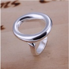 Delicate O Style Finger Ring for Women - Silver